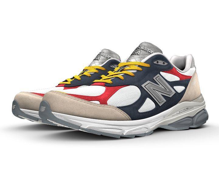 Le leggendarie New Balance Made in USA 990 danno il meglio di sé nella versione NB1- 990v3. È il modello più performante della collezione disponibile per NB1. Potrai personalizzare la tomaia in pelle scamosciata e mesh per mostrare il tuo look unico e godere di tutti i vantaggi di una scarpa sportiva ammortizzata.
