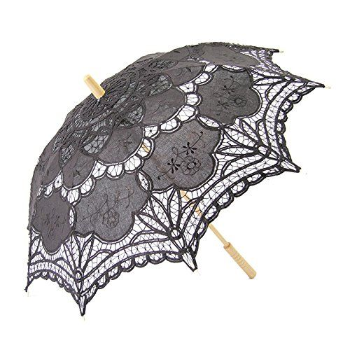 Make a Victorian Carriage Parasol Gaobei Victorian style Romantic Lace Umbrella Parasol for Decoration Wedding Costume Accessory Bridal Photograph Size: 26 * 30