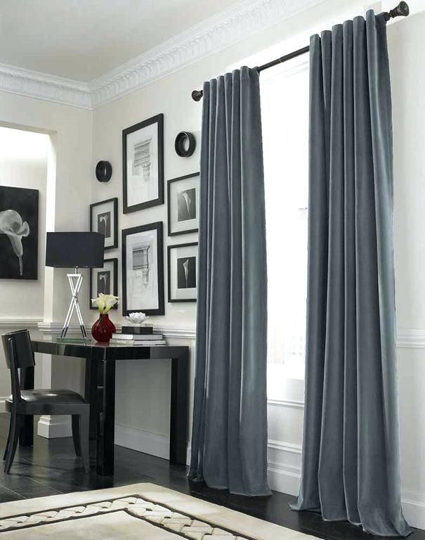 Gray And Beige Curtains Curtain Ideas For Large Windows With