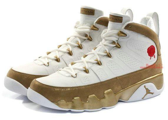 online store d9908 e5553 Young Air Jordan 9 Big Boys Shoe Premio Bin 23 White Gold ...