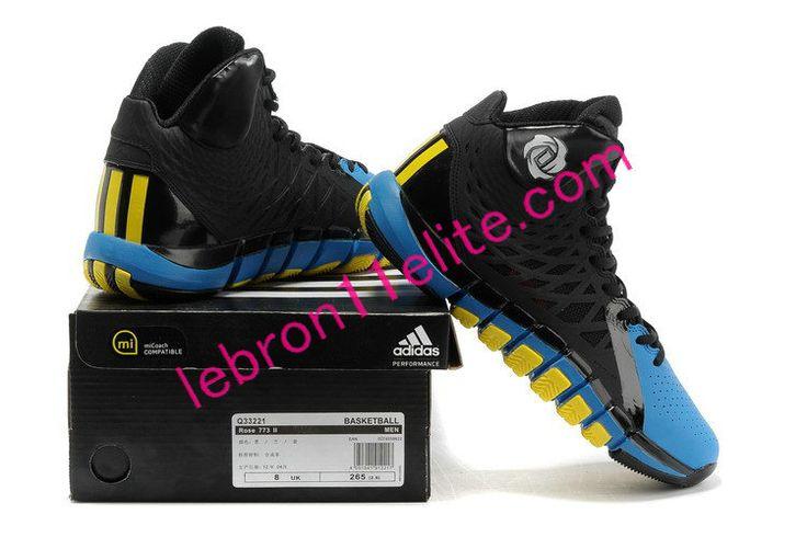 Adizero Rose 773 II,Adidas D Rose Shoes 2013 Vibrant Yellow Imperial Blue Q33221