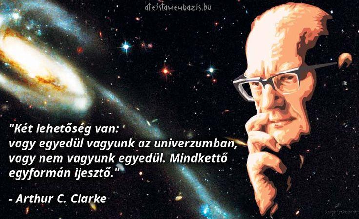 Arthur C. Clarke #idézet | A kép forrása: Magyar Ateista Mémbázis