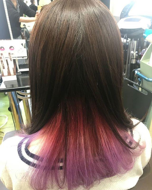 Salon De Anzaiさんはinstagramを利用しています 美容室 美容師 いわき美容室 いわき市 Zone インナーカラー インナーカラーピンク グラデーションヘアー マニパニ マニックパニック ビビッド ブリーチ ブリーチカラー インナーカラー ピンク インナー