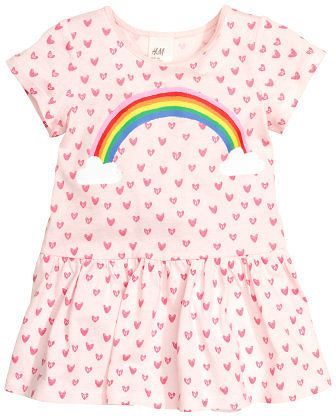 (3 Colors) H&M Patterned Jersey Baby Dress
