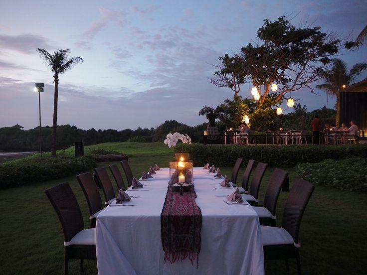 Location: Soori Bali. Romantic dinner set up.