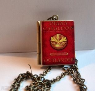 Outlander Diana Gabaldon, vintage Book,Locket,Book Pendant with an antique brass chain