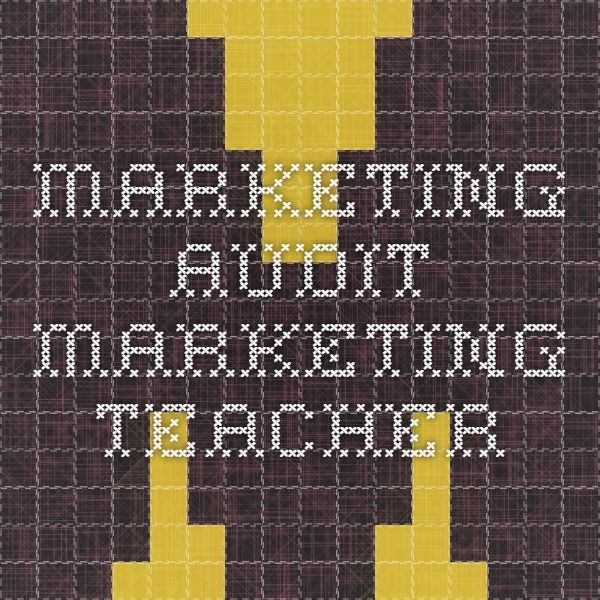 Marketing Audit - Marketing Teacher