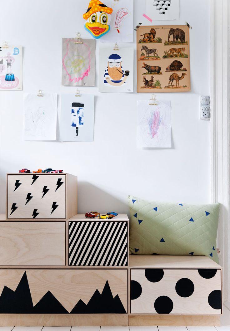 Sådan får du plads til børneværelse og kontor i et rum