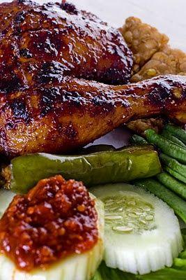 Ayam Bakar (Roasted Chicken) Indonesian Food