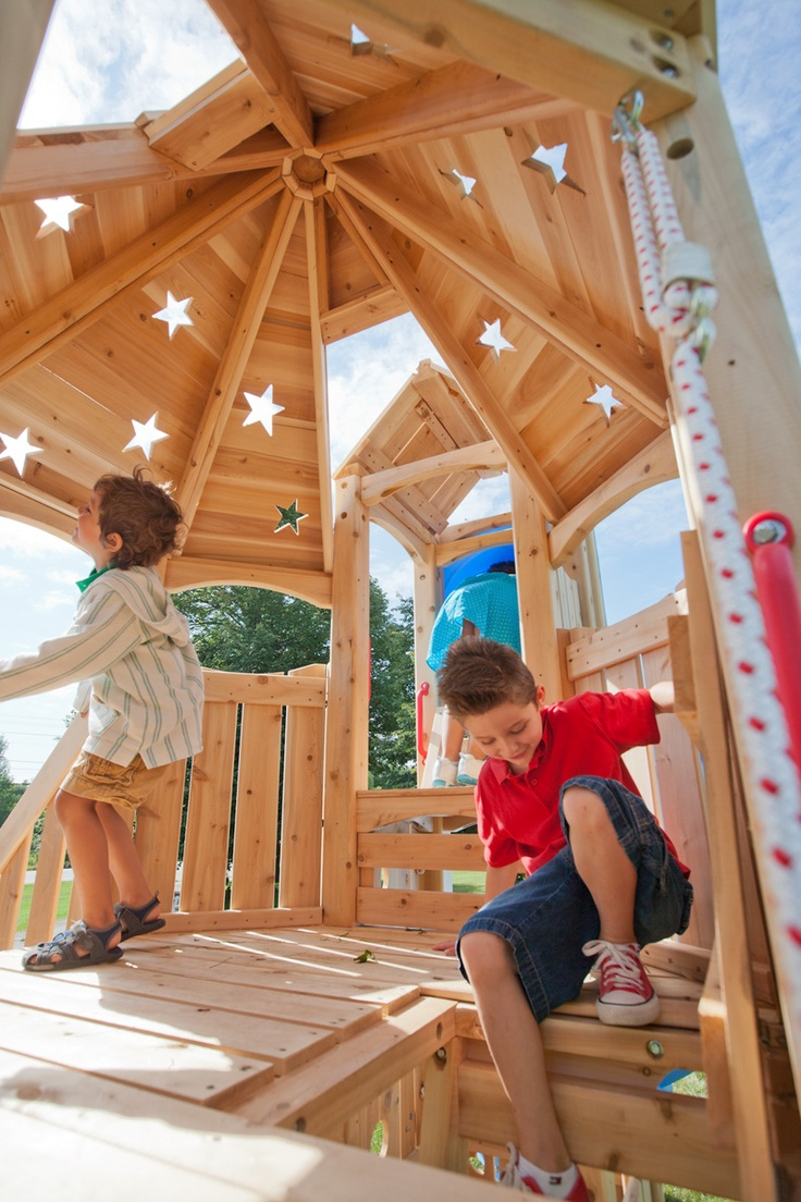 Build Your Own Playset | Frolic 9 Wooden Playset and Swing Set | CedarWorks