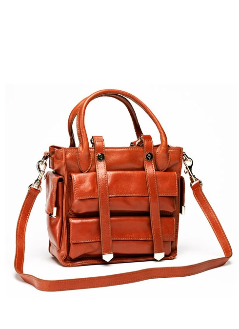 Cognac Leather Satchel
