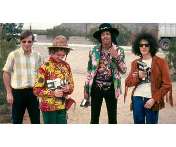 "From left, Roger Mayer, Mitch Mitchell, Jimi Hendrix and Noel Redding. Photo: <a href=""http://www.roger-mayer.co.uk"">roger-mayer.co.uk</a>"
