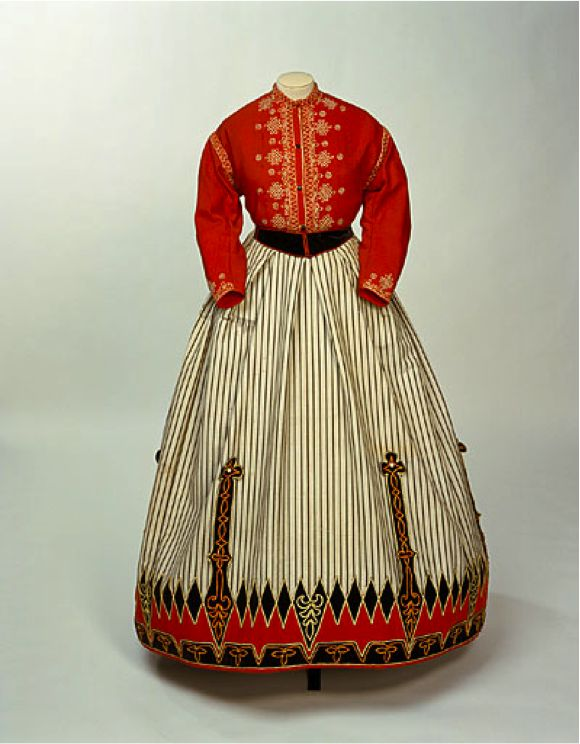 Garibaldi blouse - a woman's fashion, a red wool shirt named after the Italian patriot Giuseppe Garibaldi first popularized in 1860