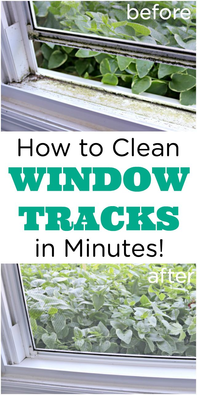 How to clean dirty window tracks and window screens too! via @Mom4Real