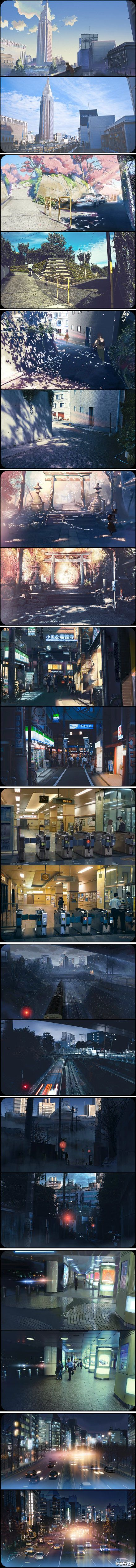 5CM per second: Movie VS Reality (such a great film- it's one of my all time…