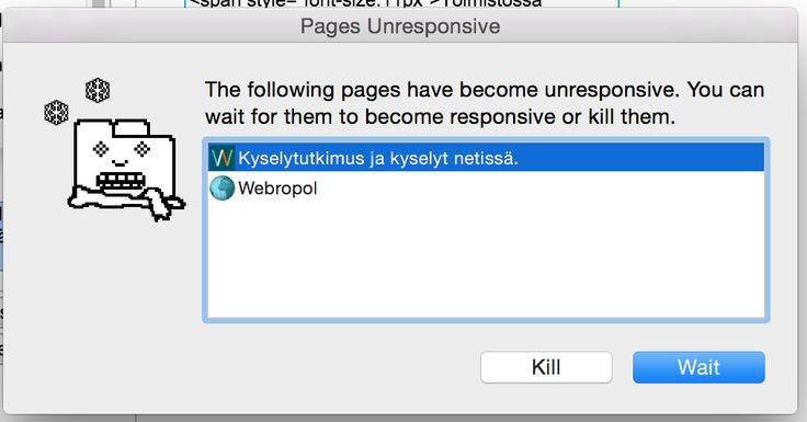 After a horrible experience with very unresponsive web-application, the user may even be happy to kill it. #BadUX