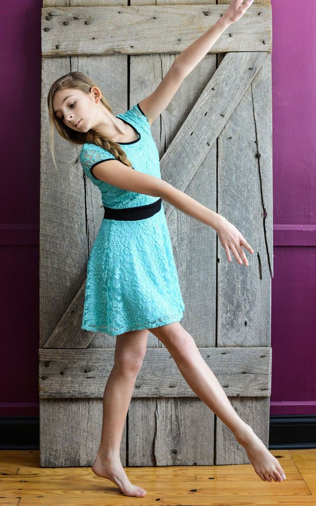 $95 Large 12 Sally Miller Couture Lace Cap Sleeve Skater Dress Aqua Repair (3859 #SallyMillerCouture #Dressy