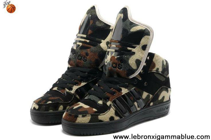 Buy Discount Adidas X Jeremy Scott Big Tongue Camo Shoes Your Best Choice