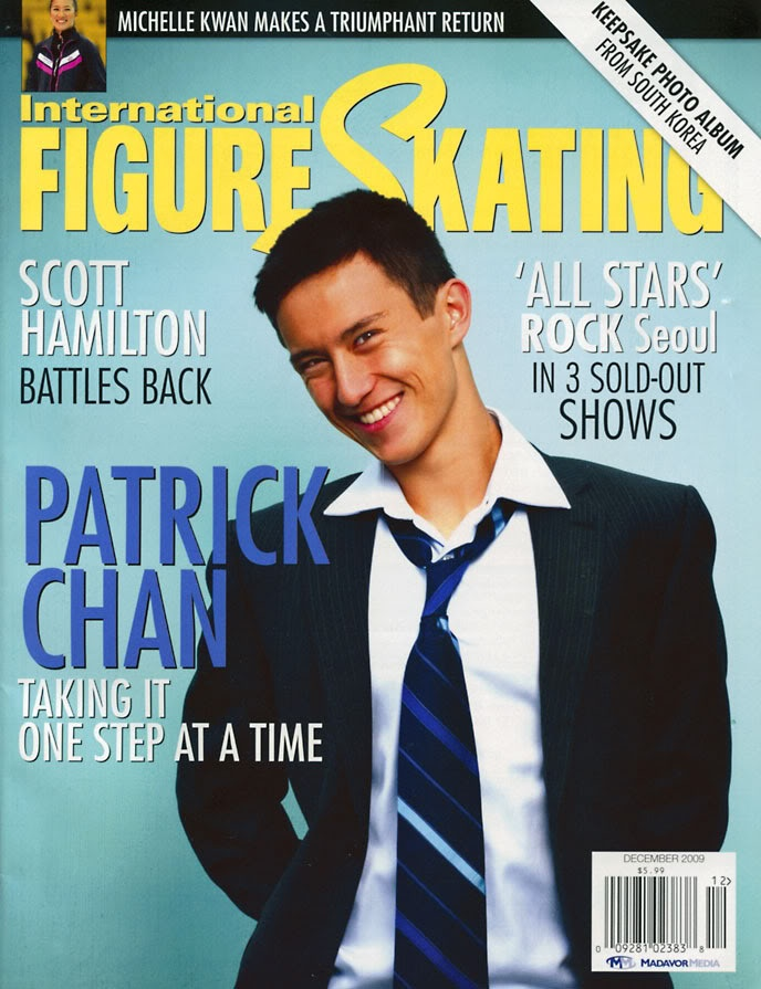 Patrick Chan on the cover of the December 2009 issue of International Figure Skating magazine.