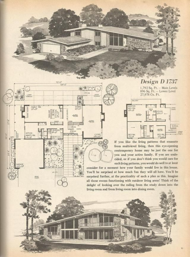 1038 best images about mid century mod architecture on for Mid century floor plans