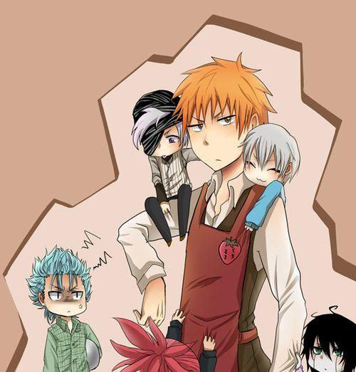Ichigo, Grimmjow, Ulquiorra, Renji, Gin, and Kokuto! XD  <3