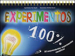 Experimentos 100%. Edit. San Pablo. De 8 a 12 años. Libro- atril con 50 sorprendentes experimentos sobre la tierra, el agua, las plantas, los animales, el cuerpo, el cieloà Su práctico e ingenioso formato permite consultar los pasos a seguir a la hora de hacer los experimentos.