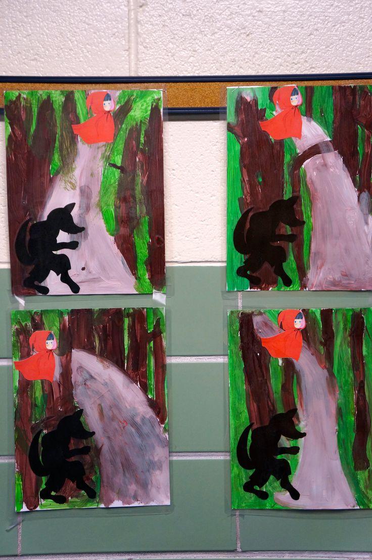 Silhouette Cameo - Little Red Riding Hood Preschool Project - Nursery Rhyme Theme