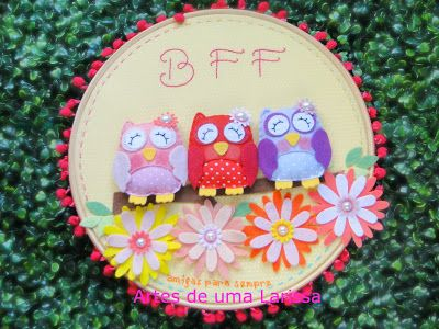 Quadrinho Corujas BFF, amigas para sempre. Para o quarto de três irmãs unidas pelos laços de amor e amizade.