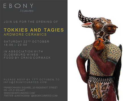 Ardmore will be exhibiting new work, inspired by African mythology, at the Ebony Art Gallery in Franschhoek from October 22. The works for the 'Tokkies and Tagies' exhibition, which are reminiscent of those by legendary sculptor, Bonnie Ntshalintshali, were created by Pomotso Mafura and painters, Nhlanhla Zulu and Mthokizi Mkhize, all of whom attended our Winter School.