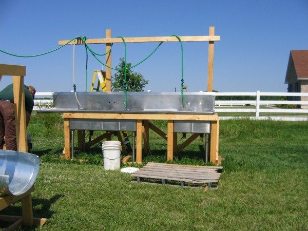 85 best images about butchering solutions ideas for the for Homemade fish cleaning table