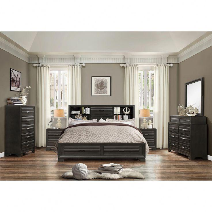 Best Carbon Black Loft Pavlov Antique Grey Finish Wood King 400 x 300