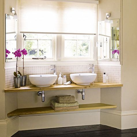 Bright and refreshing -- just what a bathroom should be!