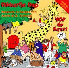 Dikkertje Dap  In 1990 brengt VOF de Kunst als eerbetoon aan Annie M.G. Schmidt een album uit met op muziek gezette gedichten van de schrijfster. De cd Dikkertje Dap wordt een groot succes en staat een jaar lang in de album top 100. De cd bevat onder andere 'De Katten Gaan Naar Londen', 'Een Tante En Een Oom In Laren' en uiteraard 'Dikkertje Dap'.