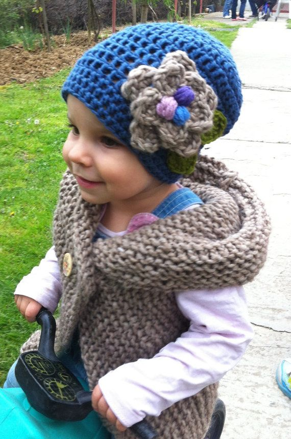 Crochet pattern - Blue Hat with Birds Nests and Three Eggs/children/toddler/girls/woman/adults $5.00 USD
