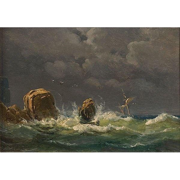 Carl Neumann (1833-1891): Seascape