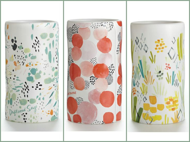 New spring ceramic candles from Illume Candles to brighten your home! Choose from Pineapple Cilantro, Anemone, Driftwood Sage