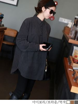 korean fashion online store [COCOBLACK] Kodyu nb / Size : FREE / Price : 57.97 USD #korea #fashion #style #fashionshop #cocoblack #missyfashion #missy #top #shirts #coduroy