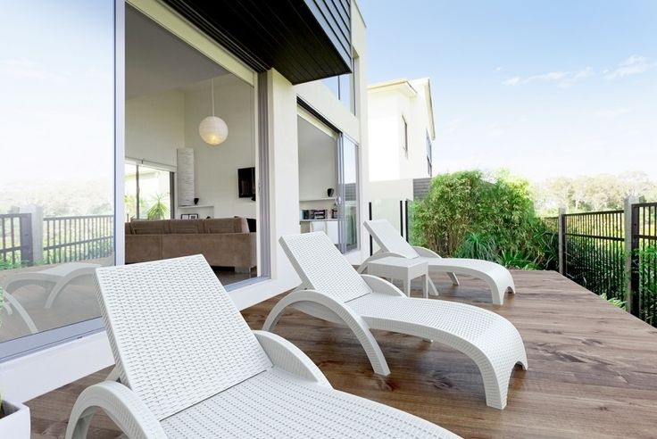 Fiji Sunlounger is ideal for any outdoor  area, it will never rust or fade and comes in two other colours.