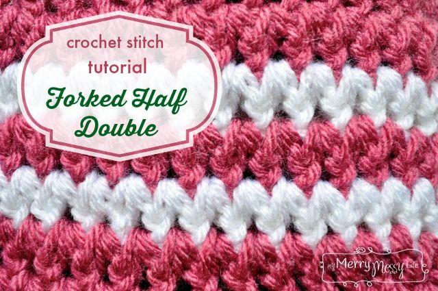 Beginner Crochet Stitch Tutorial : Crochet Stitch Photo Tutorial - Forked Half Double Crochet ...