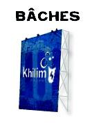 Bâches (M1, ignifugée, rétroéclairable)  #impression #bache #tarpaulin #Khilim