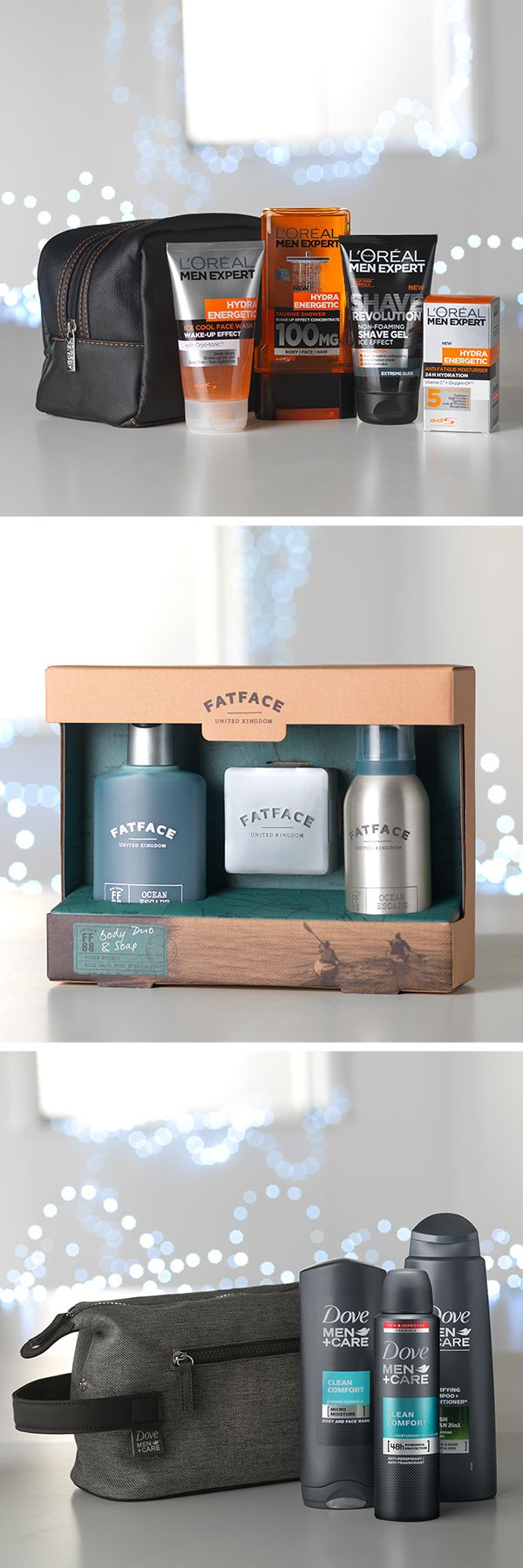 Forever checking himself out in the mirror, he certainly likes to take care of himself – and after years of telling him to get out of the bathroom, you know that all too well. This year give him a few great grooming treats, like the L'Oreal The Expert Washbag, Fat Face Body Duo & Soap and Dove Men + Care Washbag.
