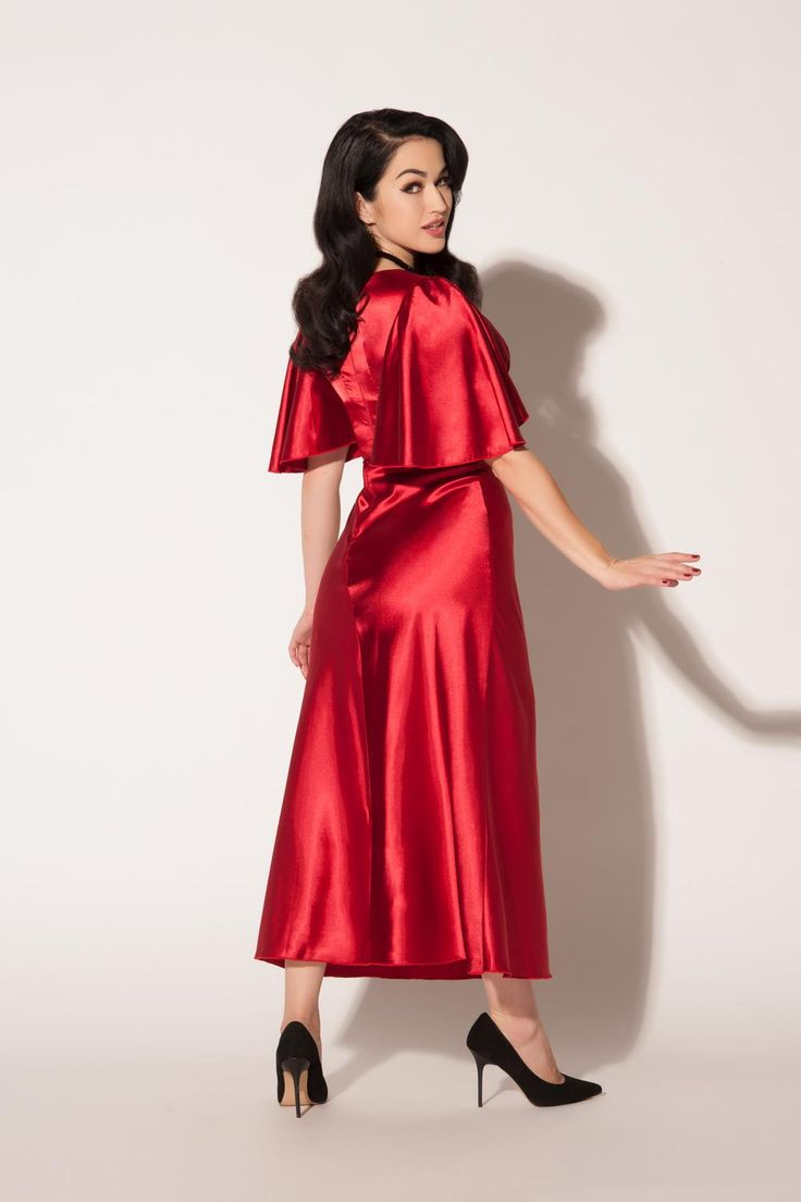 Graciela Gown in Deep Red | Pinup Girl Clothing
