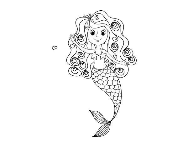 Dibujos Colorear Sirenas ~ Ideas Creativas Sobre Colorear