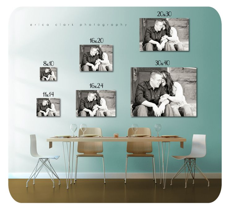 print size comparison photos how to show them off pinterest. Black Bedroom Furniture Sets. Home Design Ideas