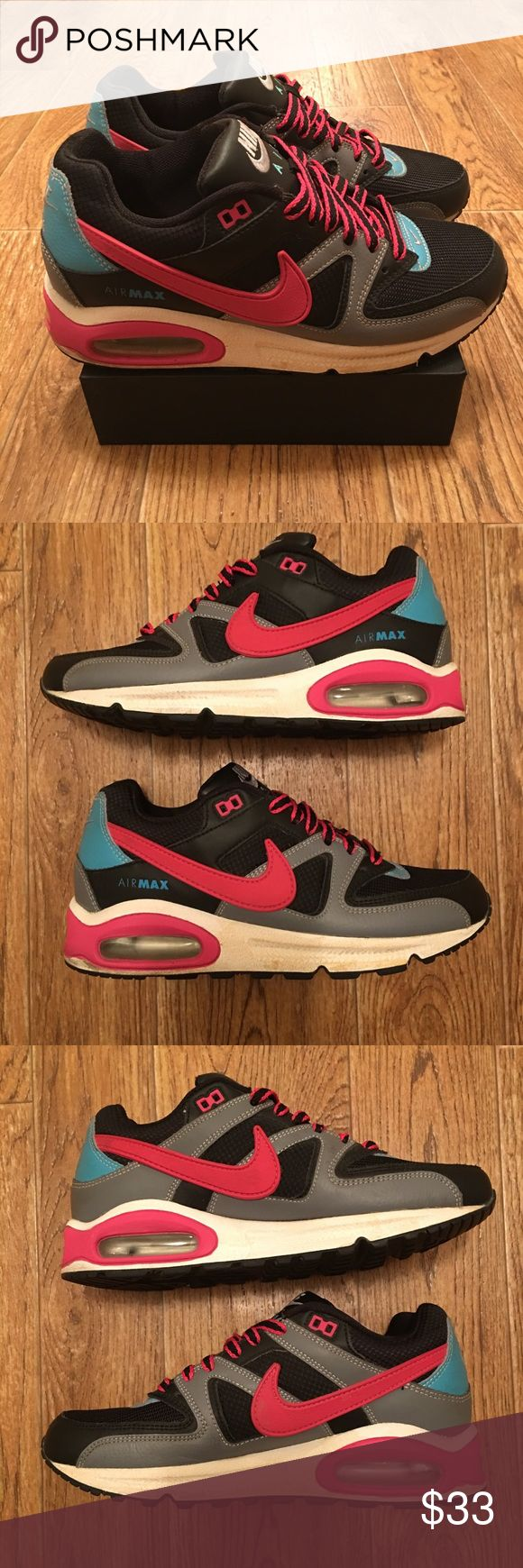 [Nike] Air Max Command Women's (used) Sneakers Used Nike Air Max Command womens sneakers.  Good condition overall, some fading/scratches along bottom white part of shoes (see photos).  Women's Size 7.5  **Offers Accepted **     468-A92 Nike Shoes Sneakers