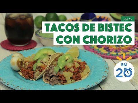 ¿Cómo preparar Tacos de Bistec con Chorizo? - Cocina Fresca