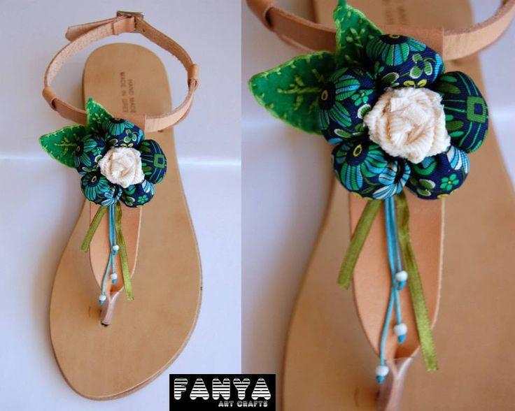 "handmade sandals ""blossom"""