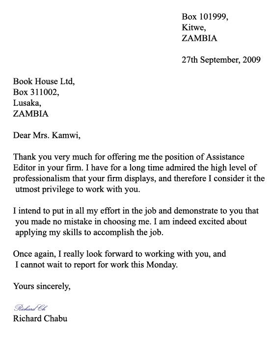 Formal Letters Format Formal Application Letter Format Sample