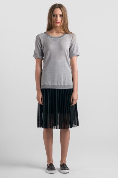 Stitch Ministry Mesh Pleated Skirt at Wendys Boutique