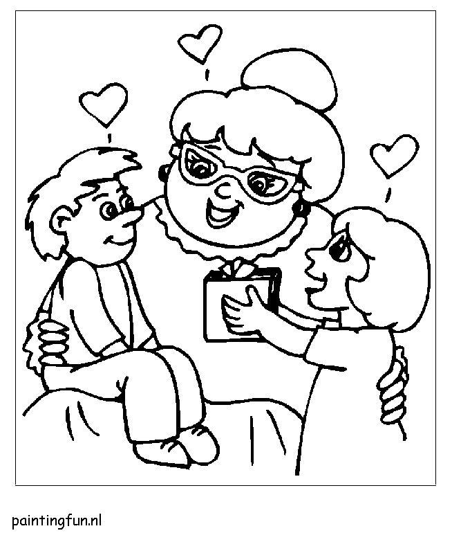 Рисунок с днем рождения для бабушки от внучки